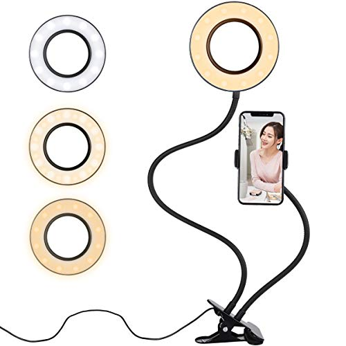 Diyife Anillo de Luz Selfie,[Nueva Versión] LED Luz Anular con Soporte para...