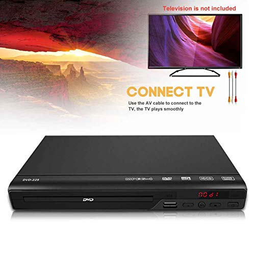 Amusingtao DVD Player for TV,HD DVD Player with HDMI & AV Cable,1080P Full HD CD Player,Disc Player for Video & Media CD - PAL/NTSC Compatible - USB Compatible