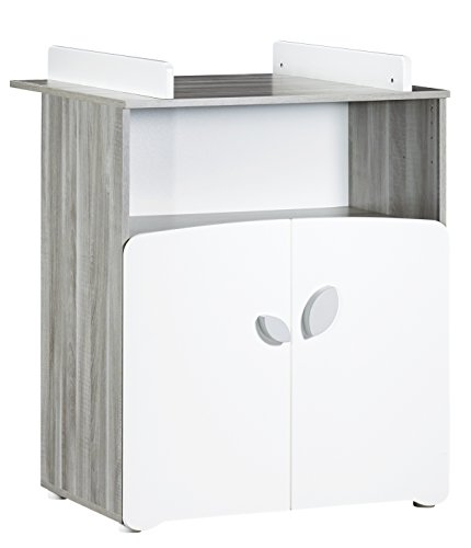 BABY PRICE New Leaf Commode à Langer 2 Tiroirs + Grande Niche