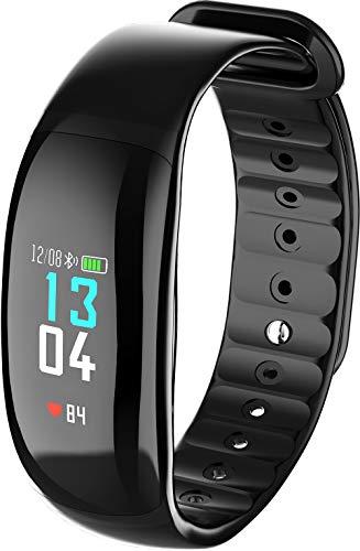HKPLDE Fitness Tracker/Bluetooth Podómetro Smartwatch Calorías Monitor de sueño Impermeable Notificación de Llamada para Hombres Mujer para Android e iOS Pulsera Actividad-Negro