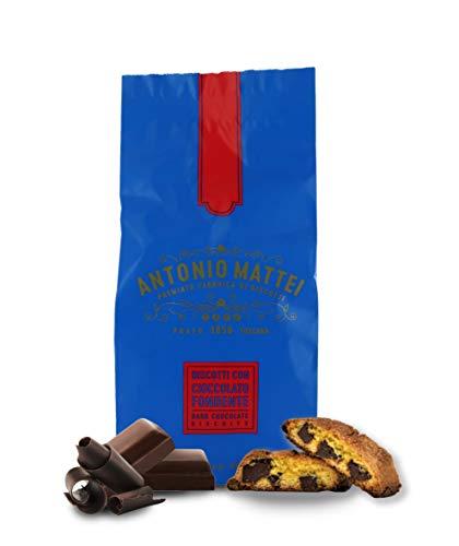 Cantucci con Cioccolato Fondente, Biscotti con Gocce di Cioccolato, Sacchetto 125g x 24