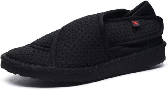 Nwarmsouth Zapato Ajustable y cómodo para la Diabetes,Zapatos de protección para pies lesionados y fracturas, Zapatos ortopédicos de compresión de banda-36_Black,Zapato Unisex de Salud para Adultos