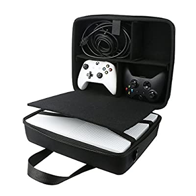 for Microsoft Xbox One S Hard Case fits Kinect Sensor/Controllers/Game Disks by co2CREA by co2CREA