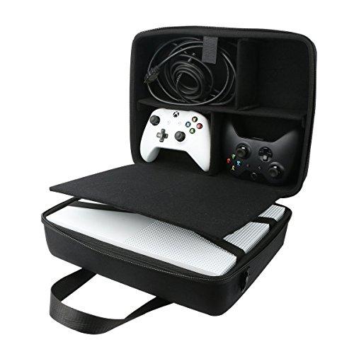 para Microsoft Xbox One S Consola Estuche de transporte paquete Viajes manga de bolso encaja cargador / cable / Mando Inalámbrico/Sensor Kinect por co2CREA