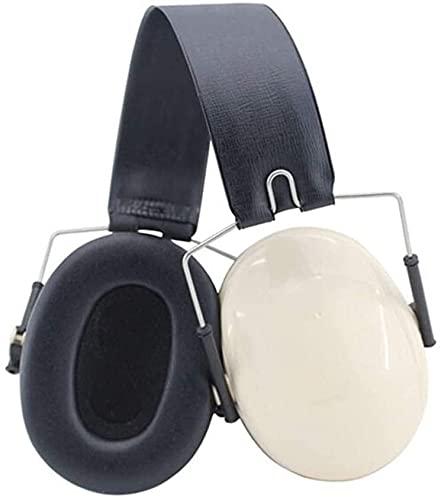 hsj WYQ - Orejeras plegables y ligeras y cómodas insonorizadas y resistentes al ruido reducen el ruido (color: blanco, tamaño: 28 dB)
