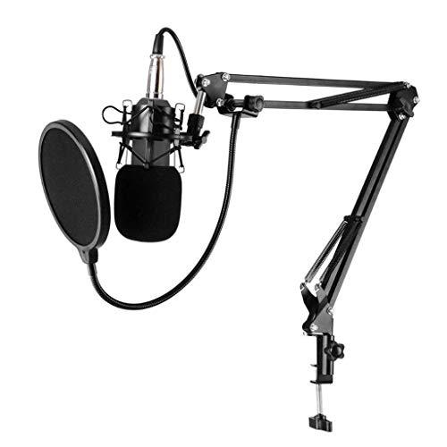 Micrófono de Escritorio, Micrófono KTV Estudio Karaoke Cardiod Condenser Condensador Micrófono Micrófono Grabación Mic para PC Récord // 213