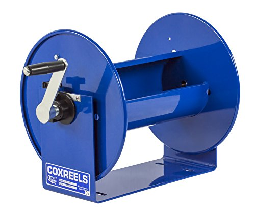 """Coxreels 117-3-550 Compact Hand Crank Steel Hose Reel - 4,000 PSI - Holds 3/8"""" x 550' Length Hose - Perfect for Air Compressor, Garden, Pressure Washer, Electric Hoses (Hose Not Included) Made in USA"""