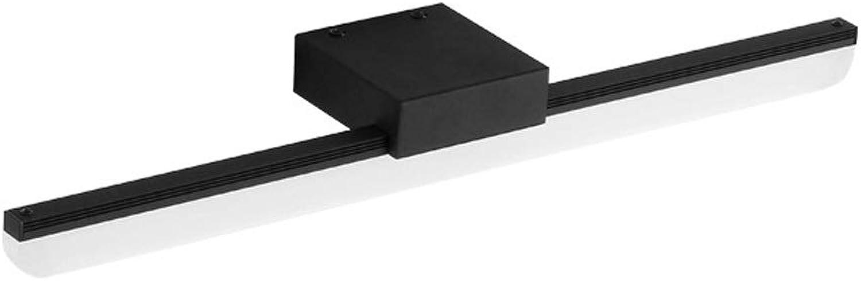 LED Mirror Front Lamp schwarz - Wandleuchte für Bad Bad Schminkspiegel Leuchte Kosmetikspiegelleuchten, Metall + Acryl [Energieklasse A ++] (Farbe   Weiß light-Length 50.5CM)