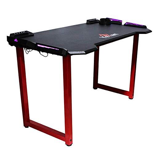 YEYIAN Mesa Gaming Shred, ergonomica, 122x68x76 cm, 4 USB, portavasos, Led RGB, (YMS-69702)