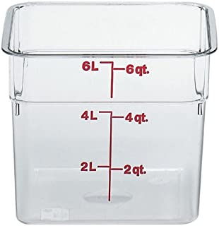 Cambro 6SFSCW135 Camsquare Food Container, 6-Quart, Polycarbonate, Clear, NSF
