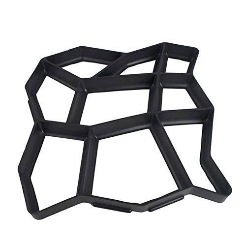 NEHARO Molde de Pavimentación de Jardín Piso de Cemento Irregular Molde de baldosa Molde de jardín Moldeo de Cemento de jardín DIY Pavimento de Molde para Pavimento (Color : Black, Size : 43x43cm)