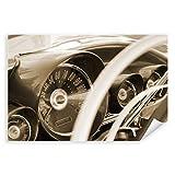 Postereck - 0005 - Oldtimer, Sepia Auto Mustang Alt Wagen