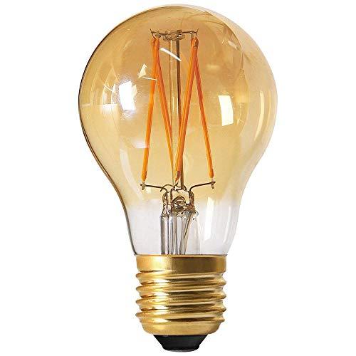 Girard Sudron 165462-LED GLS A60 Ampoule LED Filament E27 ES Edison Blanc Chaud 580 Lumens 6 W Ambre
