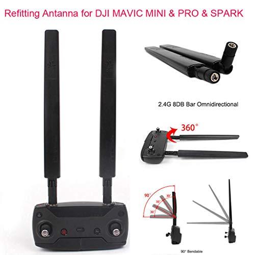 CUEYU 2,4G 8DB Omni-Direktionale Signal Range Booster Kit für DJI Mavic Mini Pro/Spark Drohne,Verbessertes 7000m 2,4G 8DBI Refitting Antenna Full Richtantenne Range Extender