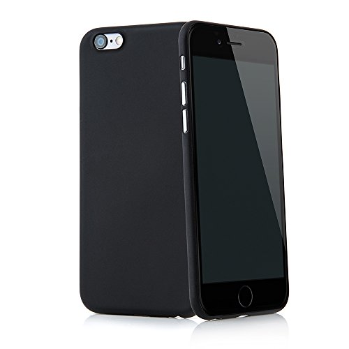 Smartphone case cover Tenuis Transparent ultra slim from Quadocta, Policarbonato, Solid Schwarz, iPhone 6/6s (4,7')