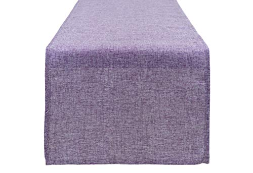 Aiking Home (Pack of 1) Natural Faux Linen Unlined Table Runner, Lavender-Size 12''x62'' -Ideal for Wedding, Baby Shower, Party Decor, Thanksgiving, Christmas or Special Event.