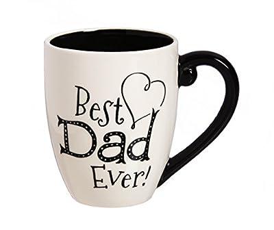Cypress Home Best Dad Ever Ceramic Coffee Mug, 18 ounces