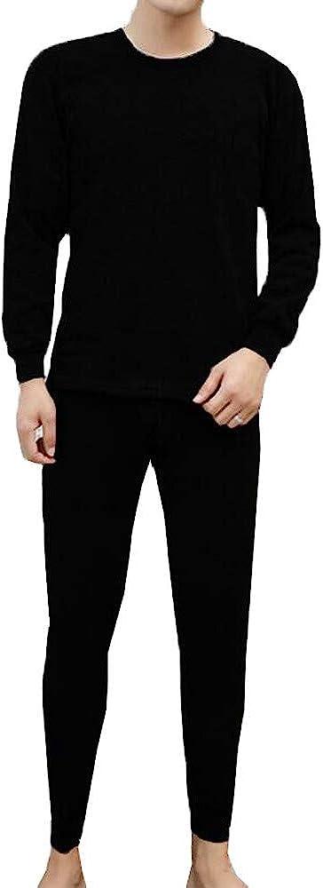 Mens Winter Thermal Award-winning store Underwear Suit Pure Circular Collar Color Free shipping Wa