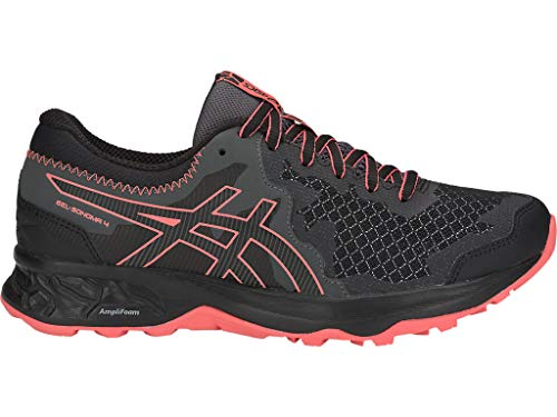 ASICS Women's Gel-Sonoma 4 Running Shoes, 8.5M, Black/Papaya