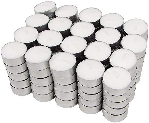 Hillfield® 1.200 Teelichte , Brenndauer 4 Stunden , Weiß , auch für die anspruchsvolle Gastronomie , Großpackung