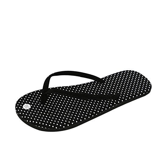 OHQ Sandalias De Mujer Sra. Chanclas Planas Café Negro Chanclas De Verano para Mujeres Zapatos Sandalias Zapatillas De Interior Y Exterior Chanclas Sandalias Romanas Elegante Barato (38, Negro)