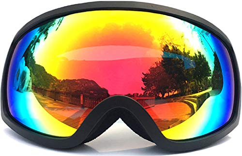 T WILKER Ski Snow Goggles OTG Dual Lens Fogfree Snowboard Goggles for Kid&Youth
