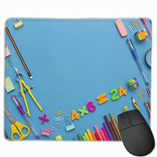 Bleistifte Kugelschreiber Muster Rutschfeste Einzigartige Designs Gaming Mouse Pad Schwarzes Stoff Rechteck Mousepad Art Naturkautschuk Mausmatte Mit Genähten Kanten