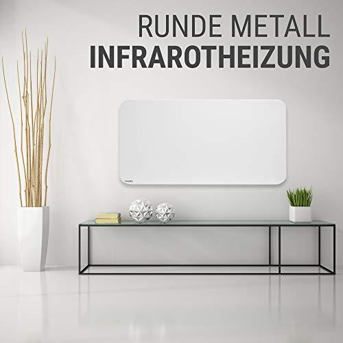 VASNER Citara M-Plus Design Infrarot-Heizung 900 Watt Metall weiß re Ecken 120x60cm TÜV Bild 6*