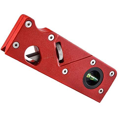 Runfon Las Herramientas de Recorte, Manual de Bricolaje 45 Grados Rojo Bisel Bloque Planer Biselado carpintería metálica Bloque