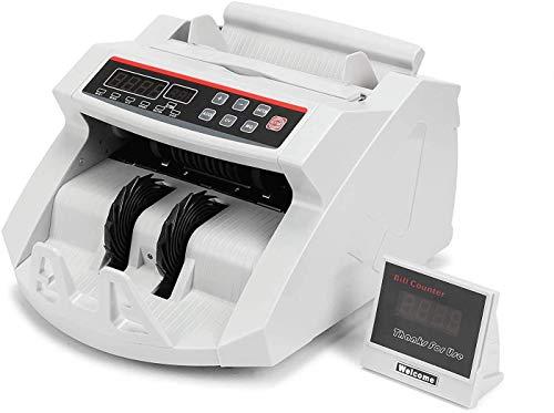 BuoQua Euro Geldzählmaschine mit Echtheitprüfung Banknotenzähler mit UV- und MG-Systeme Geldscheinzähler mit LED Display für Euro Doller Pound