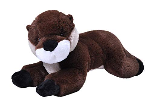 Wild Republic EcoKins River Otter Stuffed Animal 12 inch, Eco Friendly Gifts for Kids, Plush Toy, Handcrafted Using 16 Recycled Plastic Water Bottles