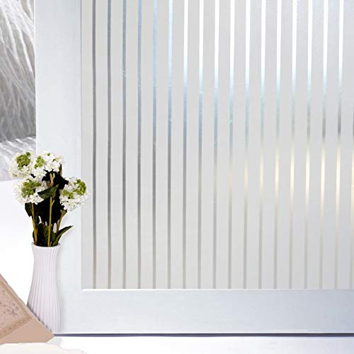 LMKJ Self-adhesive glass film vertical stripe protection explosion-proof decoration, window foil home decoration film for home office restaurant market A134 45x200cm