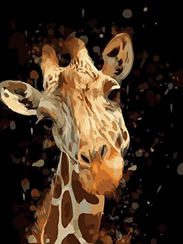 Scopri offerta per HALFLEMART Dipingere con i Numeri Kit Animale Giraffa Pittura a Olio Fai da Te per Adulti Bambini Principianti Regalo con pennelli e Acrilico pigmento Decorazione Domestica Senza Cornice 30×40 cm