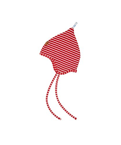 Finkid Unisex Zipfelmütze POPILI mit Streifenmuster 200406 red/Offwhite, 52