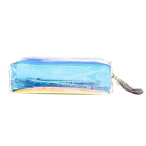 Holo Cute Laser transparent Farbe Mäppchen Kosmetiktasche Beutel Schreibwaren (Mehrfarben)