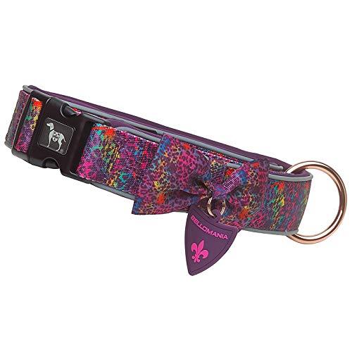 Bellomania Hunde-Halsband Nylon Neopren Größe XS Bis XL für kleine, mittelgroße, und große Hunde mit Sicherheits-Verschluss Malea