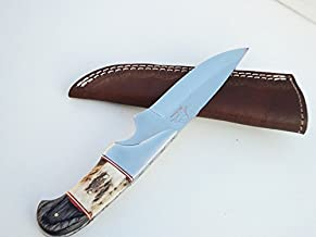 DKC Knives DKC-715 Swagger Stag Horn Hunting Handmade Knife Fixed Blade 8.5 oz 9