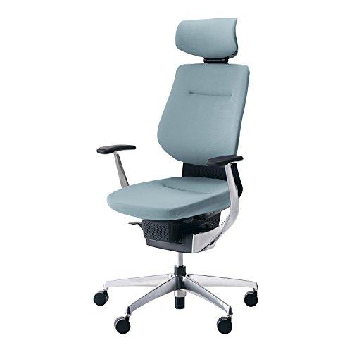 コクヨ イング イス アッシュターコイズ クッションタイプ デスクチェア 事務椅子 座面が360°動く椅子 CR-GA3245E6G439-VN 【ラクラク納品サービス】