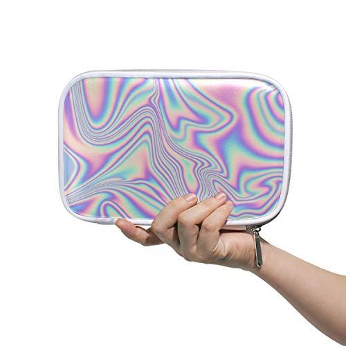 Bolso cosmético mujer Vector abstracto holográfico