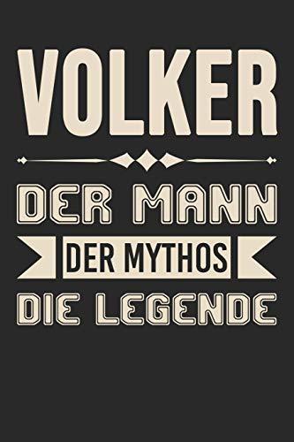 Volker Der Mann Der Mythos Die Legende: Din A5 Kariertes Heft (Kariert) Mit Karos Für Volker   Notizbuch Tagebuch Planer Für Jeden Mit Dem Vorname ... Journal Volker Name & Spitzname Notebook