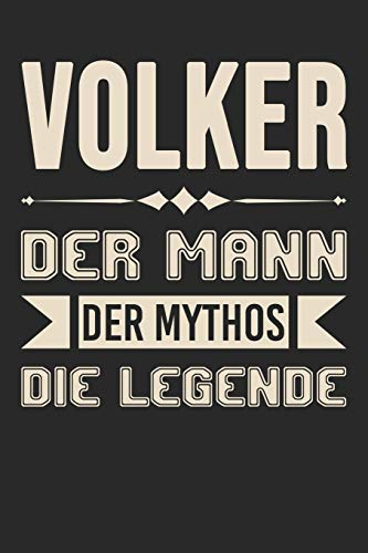 Volker Der Mann Der Mythos Die Legende: Din A5 Kariertes Heft (Kariert) Mit Karos Für Volker | Notizbuch Tagebuch Planer Für Jeden Mit Dem Vorname ... Journal Volker Name & Spitzname Notebook