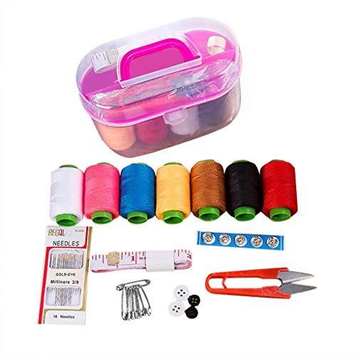 Find Bargain Sewing Thread,Lanyun Home Travel Thread Threader Needle Tape Measure Scissor Storage Bo...