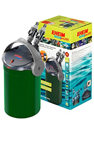 Eheim Filtre extérieur EccoPro 200 modèle 2034 600L/H 5 W avec matériaux filtrants pour aquariums jusqu'à 200 litres
