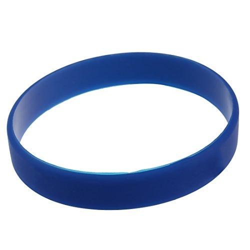 Toogoo, bracciale alla moda in silicone, gomma elastica, bracciale semplice di colore blu scuro
