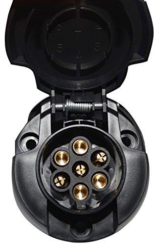 AERZETIX: Enchufe Hembra 7 Pino Toma conectador de Remolque 7 broches 12V C12378 Enganche Haz cablea cableado Luces traseras Stop