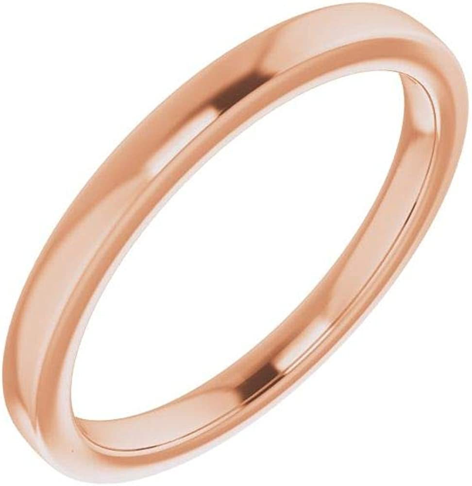 Solid List price 14K Rose Gold Curved Notched 9x7mm Deluxe Emeral Wedding for Band