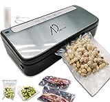 Machine sous vide alimentaire automatique professionnelle, AD Provac 80kpa pour aliments frais, secs et humides 120w 13l/min, 1 tuyau de po et Sacs comme accessoires inclus