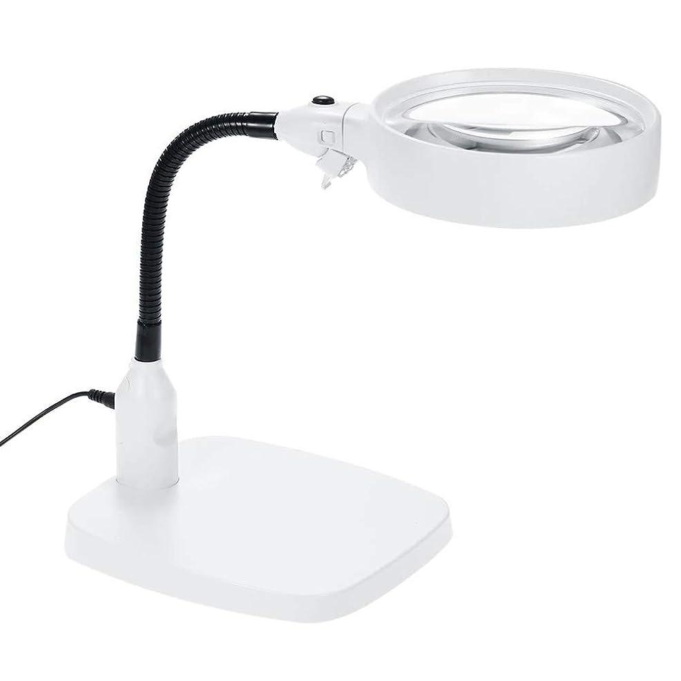 大型ポータブル理想拡大鏡LEDフリー虫眼鏡ハンズフリーライトスタンド読書拡大鏡用書籍、ジュエリー作り、コイン調べる、地図、新聞