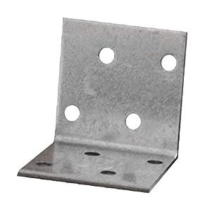 Soportes de esquina para soportes de placas, ángulo de madera resistente, chapa de acero galvanizada, 40 x 40 x 40 mm, paquete de 30 unidades