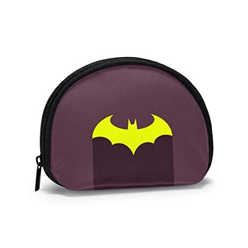 Dark Knight Anime Series Golden Bat Coin Purse Change Cash Bag Women Men Fashion Small Shell Purse Wallet Portable Shell Storage Bag Jewelry Pouch Key Holder Headphones Multifunctional Bags